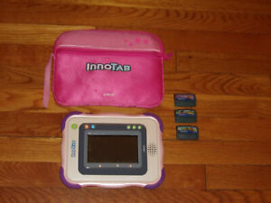 Original VTech Innotab Pink - The Learning app Tablet  plus 3 Games and Case