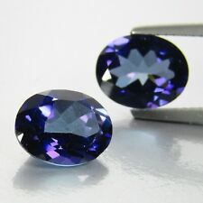6.22Cts Classic  Natural Purple Violet Topaz Color Oval Matching Pair Ref VDO