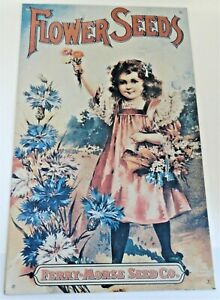 Ferry-Morse Seed Co. Flower Seeds Tin Sign (Repro)
