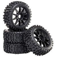 Buggy Reifen Felgenset Attack mit 10-Speichenfelge schwarz 1:8 4 Stück partCore