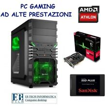PC GAMING ASSEMBLATO AMD ATHLON X4 + RADEON RX 550 + SSD 240GB + 8GB RAM HDMI 4K
