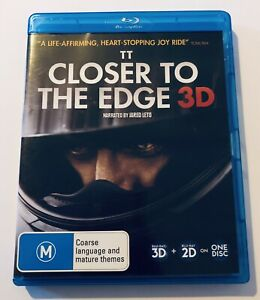 TT Closer To The Edge 3D & Blu Ray VGC Rated M Movie 🍿 Region B AU Action Drama