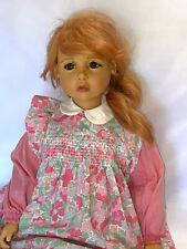 1993 Gotz 24 inch Charlene Doll with Auburn Hair, Cloth & Vinyl
