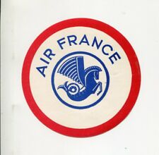 Vintage Airline Luggage Label AIR FRANCE pegasus red white blue