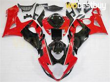 Injection ABS Fairing Kit Bodywork for Suzuki GSXR 1000 05-06 K5 Red Black  zB8