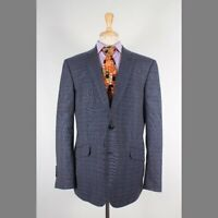 Bespoke 44R Gray Check Wool Two Button Mens Sport Coat Blazer Jacket