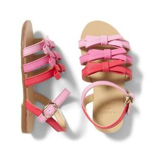 Janie And Jack Girl's Ombre Pink Multi Bow Strappy Sandal Shoe NWT Various Sizes