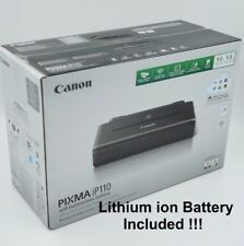 Canon Pixma iP110 Wireless Portable Mobile Inkjet Printer with BATTERY Brand New