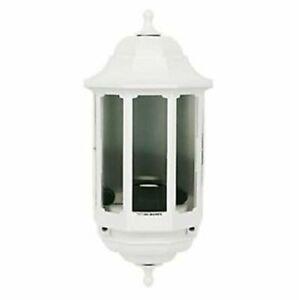 ASD Half Lantern White Wall Light External Outdoor Polycarbonate & PIR Option