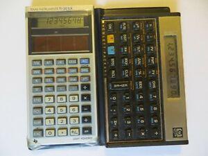 HP-12C and TI 30 CALCULATORS