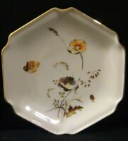 Vintage Otagiri Japan Marked Small Ceramic Plate Golden Poppy