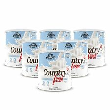 Augason Farms  6 pk Dry Milk Country Fresh Instant 100% Nonfat - Large #10 cans