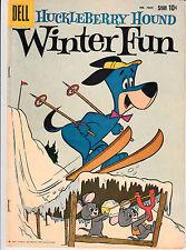 HUCKLEBERRY HOUND #1054 1959 DELL [WINTER FUN] 4-COLOR -TV/HANNA BARBERA- VG
