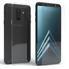 Schutzhülle + Schutzglas f. Samsung Galaxy A6 Plus (2018) Panzer Cover
