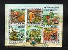 St. Thomas & Prince 2009 Dinosaurs Minerals Triceratops  Mini Sheet MNH Sc 2111