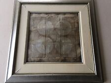 "Original Abstract Collage Art by Hibberd, Signed, Framed, 17"" x 17"" (Image), 29"""