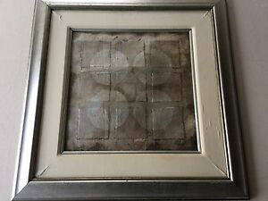 """Original Abstract Collage Art by Hibberd, Signed, Framed, 17"""" x 17"""" (Image), 29"""""""