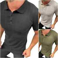 MEGAMAN Herren Polo Shirt Freizeit Hemd Sommer Kragen TShirt Fitness Sport