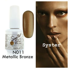 SYSTER 15ml Nail Art Soak Off Color UV Lamp Gel Polish N011 - Metallic Bronze