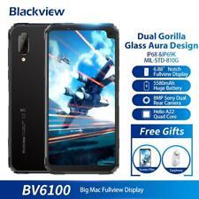 Blackview BV6100 3GB+16GB Robuste Smartphone IP68 Wasserdichte Handy 5580mAh NFC