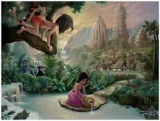 Disney Fine Art Limited Edition Canvas Mowgli's Neighborhood-Jared Franco