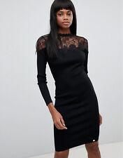 LIPSY Black Lace Bodycon Sweetheart Dress Mini BRAND NEW Size 12 RRP £58