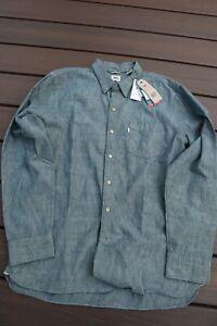 Levi's Nishimbo Sunset One Japanese Chambray Selvedge Shirt mens sz XL NWT