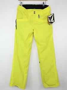Volcom Vico Pant Womens Size S Snowboard Pants Yellow 8K