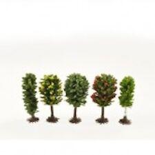 Five Tiny Little Trees 50-60mm, giardino di casa delle bambole o Ferrovia Treno Paesaggio