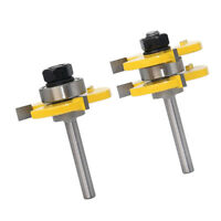 """2pcs 1/4"""" Trimming Milling Cutter Professional Woodworking Carving Tool"""