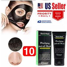 10 Tube DISAAR Black Mud Face Mask Blackhead Remover Deep Cleansing Peel Acne