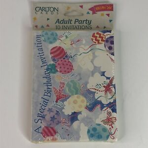 Carlton Cards Birthday Celebration Party Invitation Cards Adults 10 Per Pack New