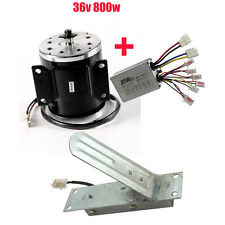 36V 800W Dc Electric Brush Motor Speed Controller Foot Pedal Throttle 2800rpm Us