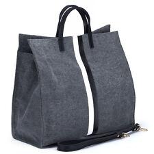 Black & White Stripe Canvas Large Tote Bag Handbag. New! Ship Free!
