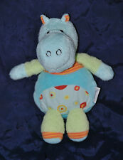 Peluche Doudou Hippopotame Bleu Vert STERNTALER  Hochet Grelot 19 Cm TTBE