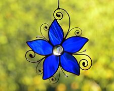 Stained glass suncatcher, windows glass hangings decor, flower suncatcher