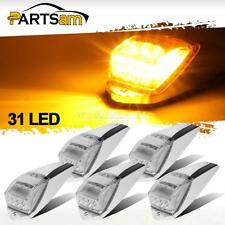 5x Clear/Yellow 31 LED Cab Marker Roof Lights for Peterbilt/Kenworth/Volvo/Mack