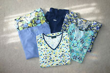 Scrub Lot of 6 Pieces, 1 Pant (med) 3 Tops(med to lg) 2 Jackets (lg)