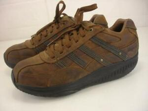 Skechers Mens 11.5 M Shape Ups 66500 XT Mover Brown Leather Walking Toning Shoes