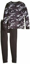 Fruit of the Loom Big Boys' Printed Performance Thermal, Gray Camo, Size 7.0 q94