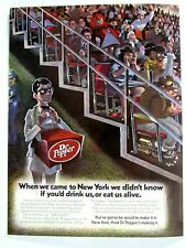 """Dr. Pepper In New York Nets ABA Game Original 1970s Print Ad 8.5 x 11"""""""