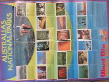 Weet Bix Australia's National Parks poster & set of 20 cards 1981