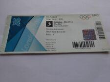 Londres 2012 Jeux Olympiques Très Rare Original Women's Marathon Billet!!!