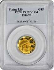 1986-W State of Liberty $5 Gold Five Dollar Proof Commemorative PR69DCAM PCGS