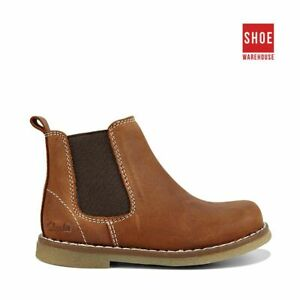 Clarks CHELSEA INF Brown Boys/Girls Ankle Boot Fashion Leather Boots