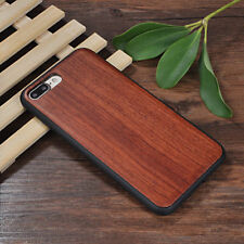 Apple Iphone 6 6s 7 8 plus + cover case hard back real wood wooden oak Rosewood