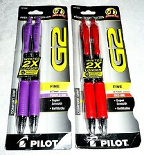Pilot LOT OF 2 Packs Color GEL Pens - Purple & Red