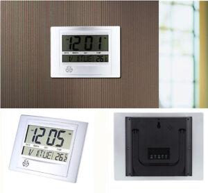 Digitale LCD Alarm Wanduhr Uhren mit großem Display Funkwanduhr funkgesteuert