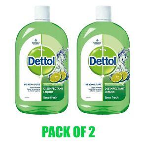 Dettol Disinfectant Liquid Multi-Purpose Lime Fresh 500 ML Pack of 2