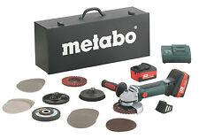 Metabo Akku Winkelschleifer W 18 LTXQuick Inox 125 2x 18V 4,0 Ah 6.00174.87